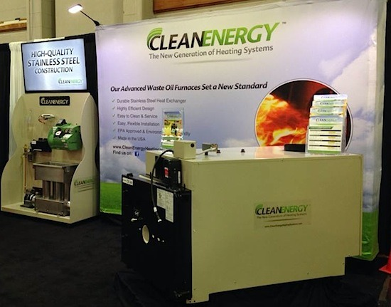 Mid Atlantic Trucking Show Waste Oil Furnace Booth